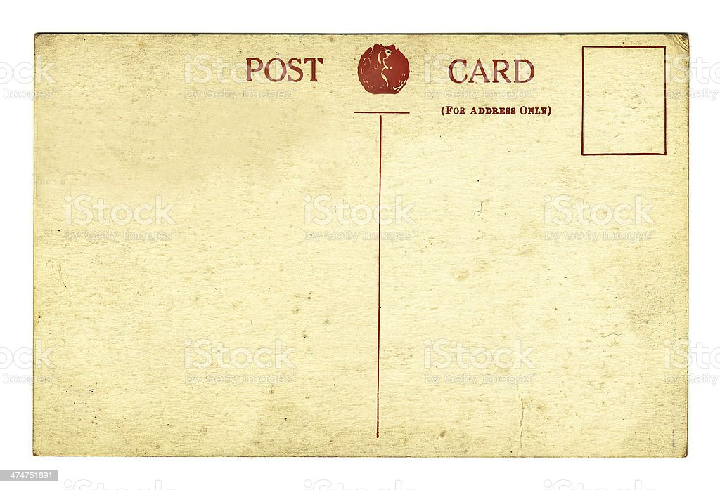 Vintage Postcard (con clipping path foto stock royalty-free