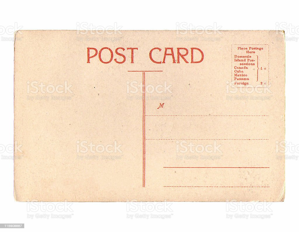Vintage Postcard  With Copy Space stock photo