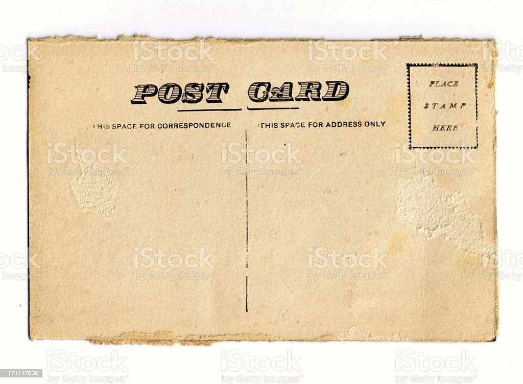 Vintage Postcard with Grunge Edges stock photo