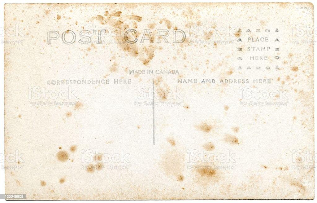 Vintage postcard XXL royalty-free stock photo