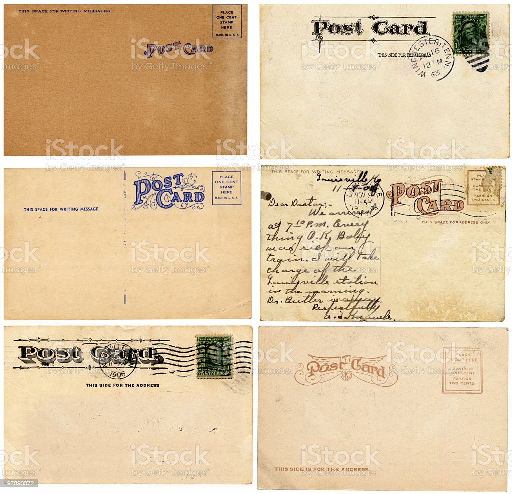 Vintage Postcards XXL royalty-free stock photo