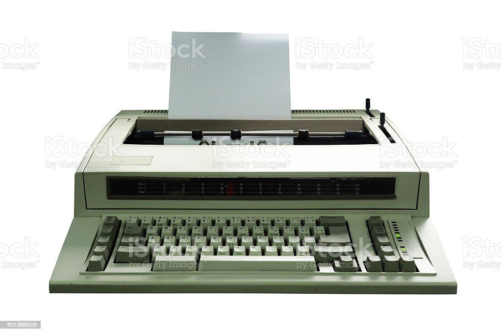 vintage Printer dicut isolated stock photo