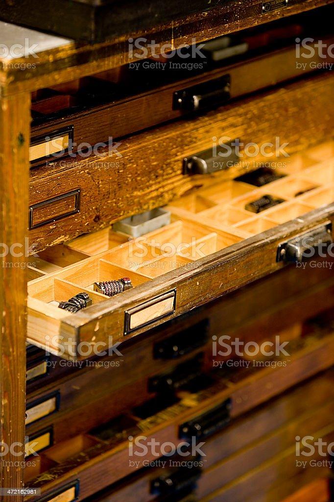 Vintage printing press.JH royalty-free stock photo
