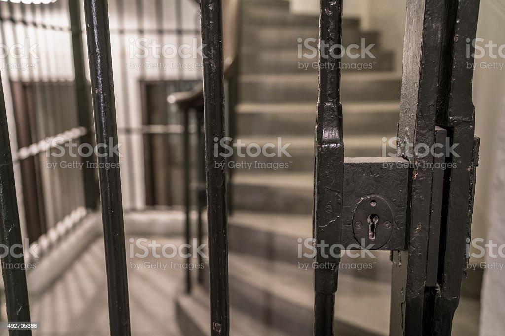 Vintage Prison Cell stock photo