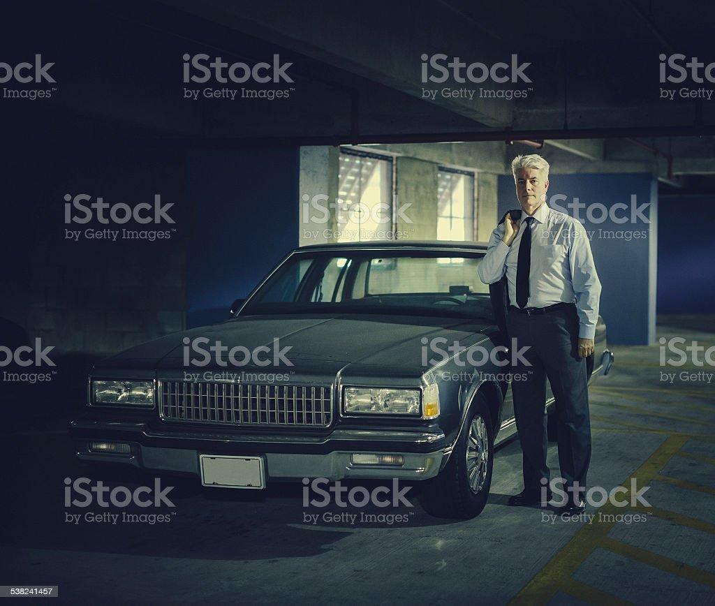 Vintage private detective stock photo