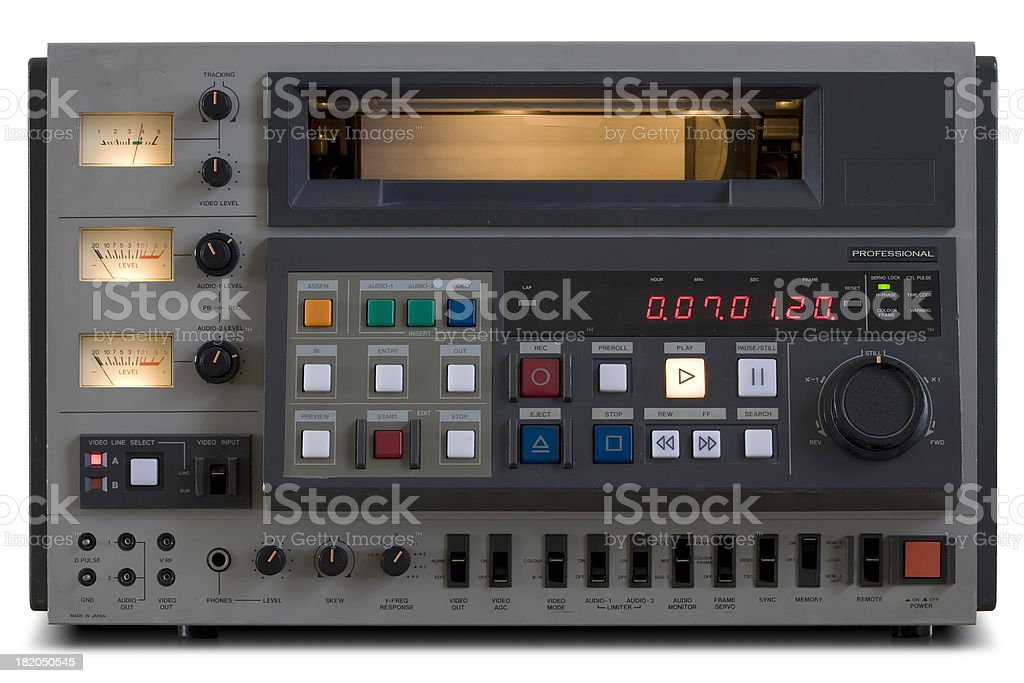 Vintage Professional Video Edit Recorder stock photo