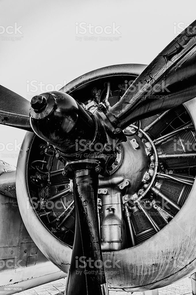 Vintage Propeller stock photo