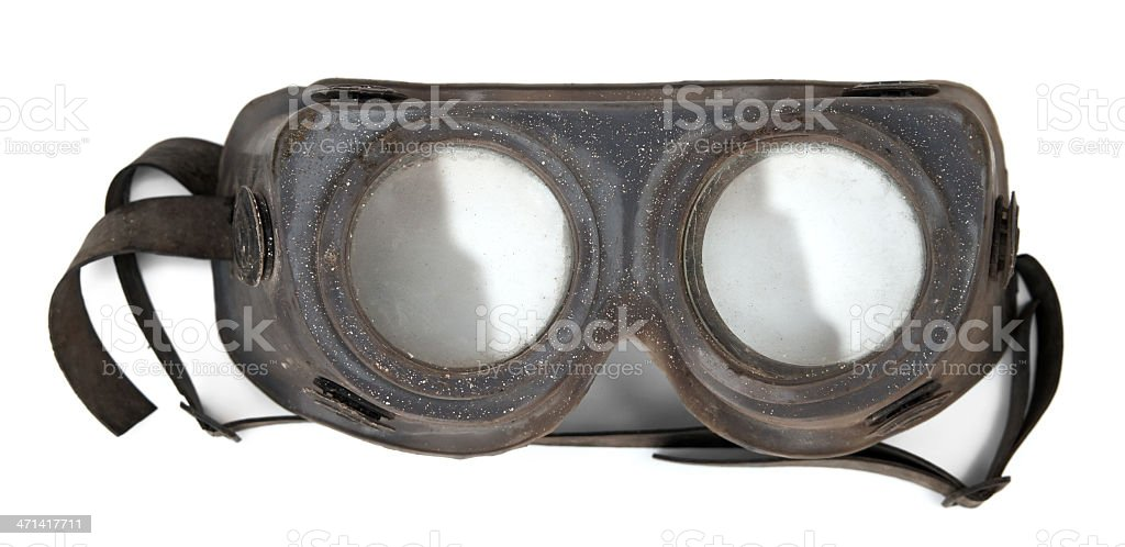 Vintage protective mask stock photo