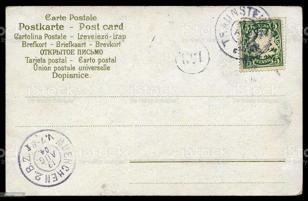 vintage Prussian postcard background stock photo