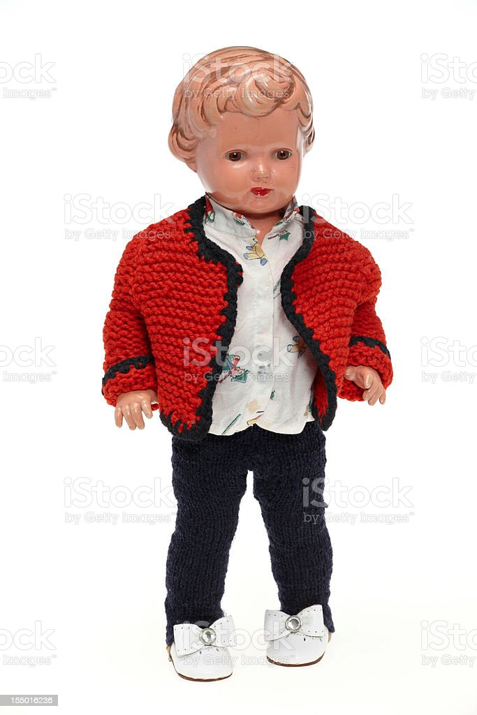 Vintage puppet from 1953 royalty-free stock photo