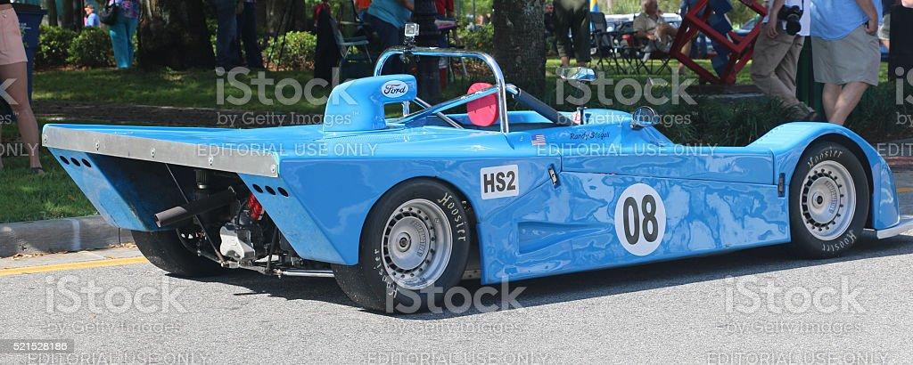 Vintage Race Car on Display stock photo
