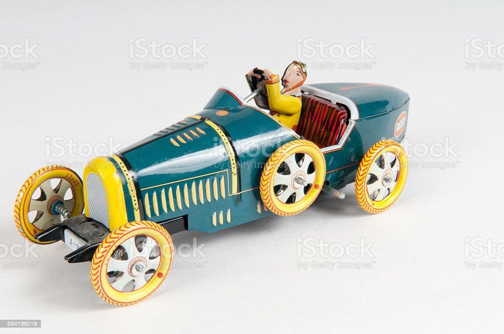 Vintage racing car stock photo