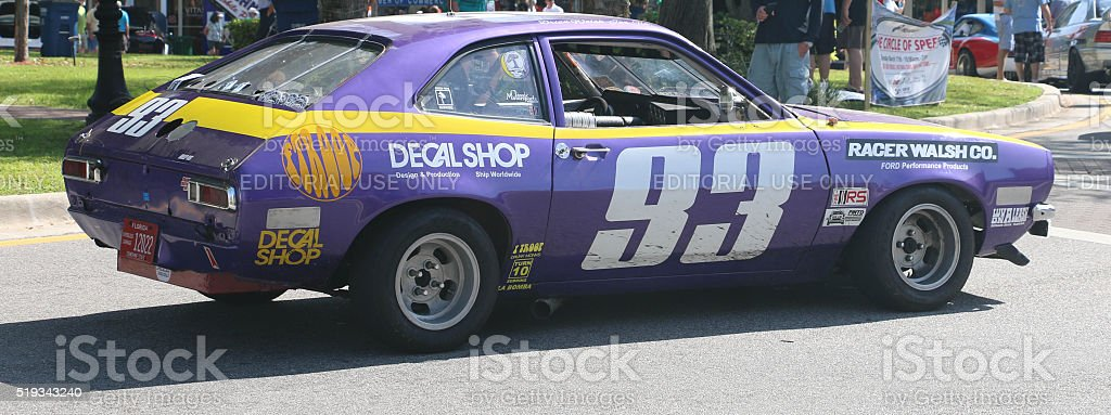 Vintage Racing Pinto stock photo