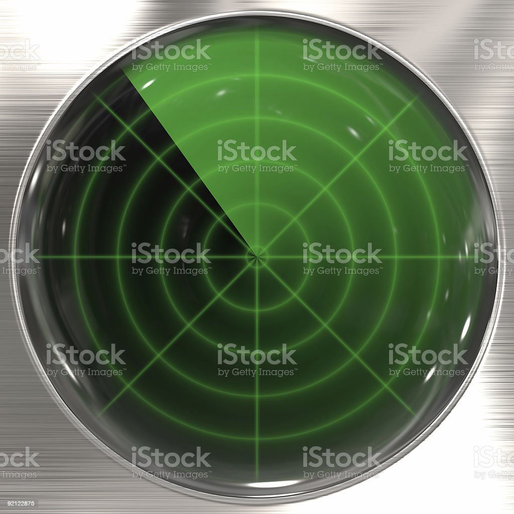 Vintage radar stock photo