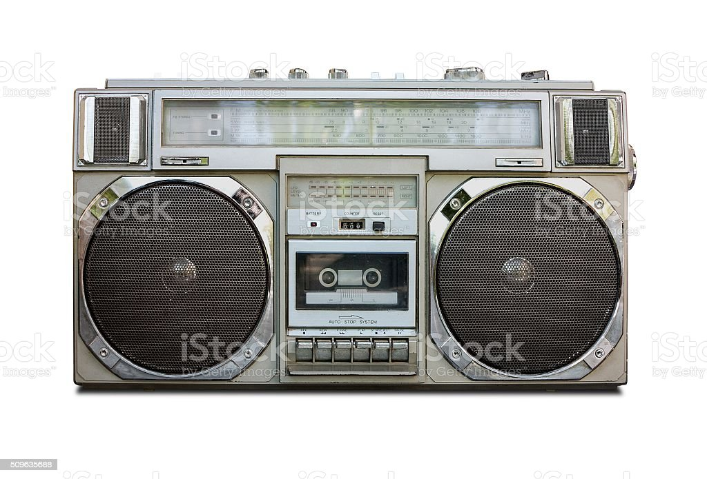 Vintage Radio Cassette Recorder Boombox stock photo