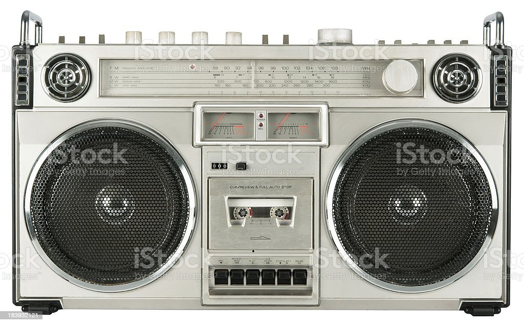 Vintage radio cassette recorder stock photo