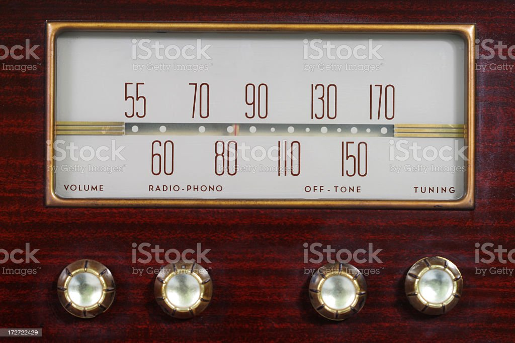 Vintage radio control stock photo