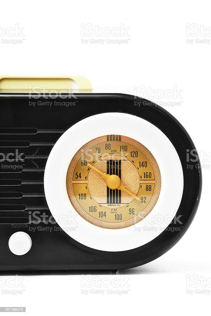 Vintage Radio Dial on White Background royalty-free stock photo