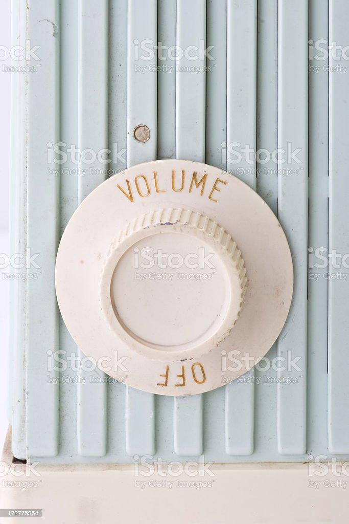 Vintage radio knob closeup stock photo
