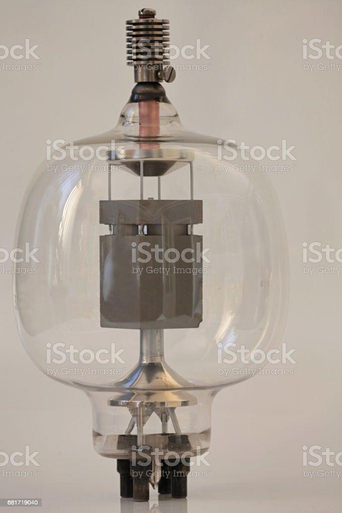 vintage radio lamp stock photo