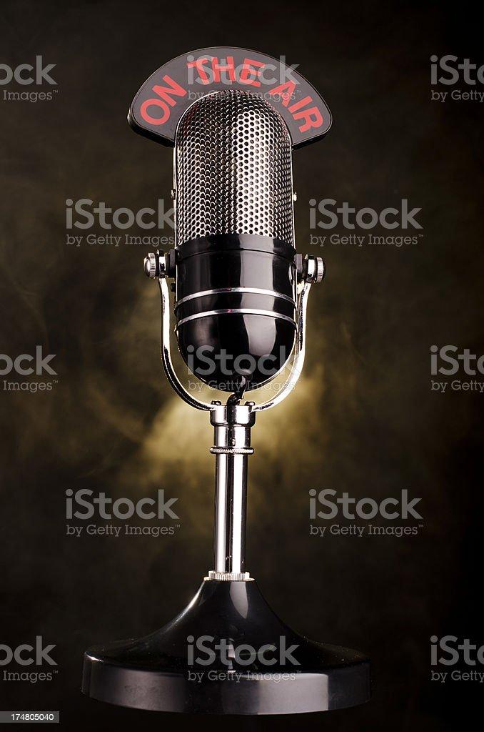 Vintage Radio Microphone royalty-free stock photo