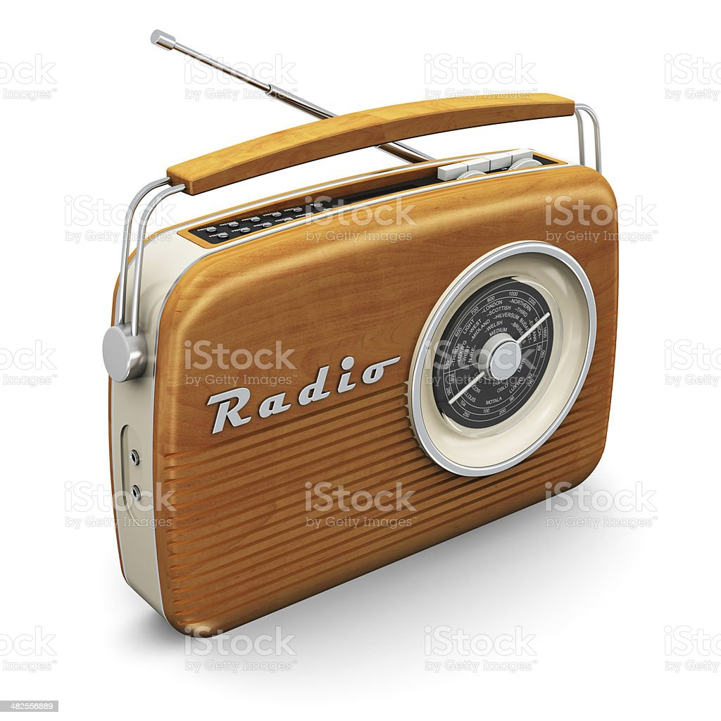 Vintage radio stock photo