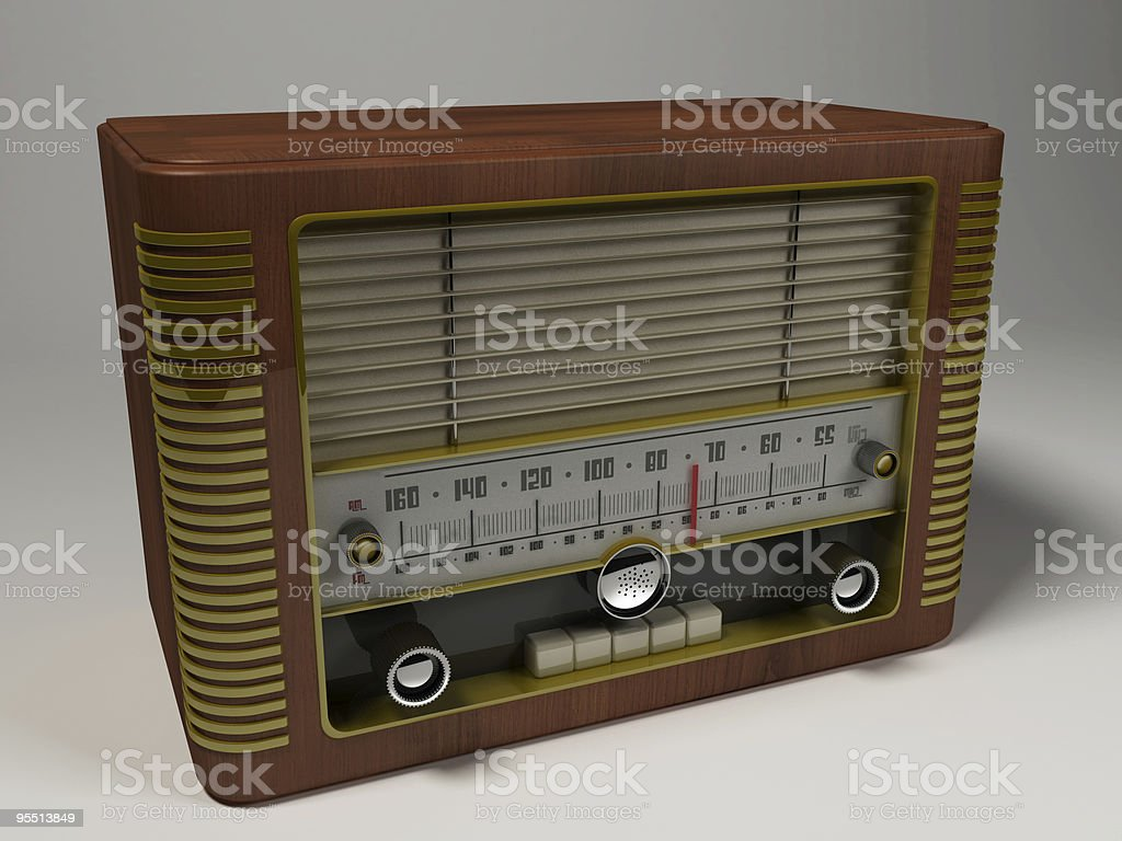 Vintage radio royalty-free stock photo