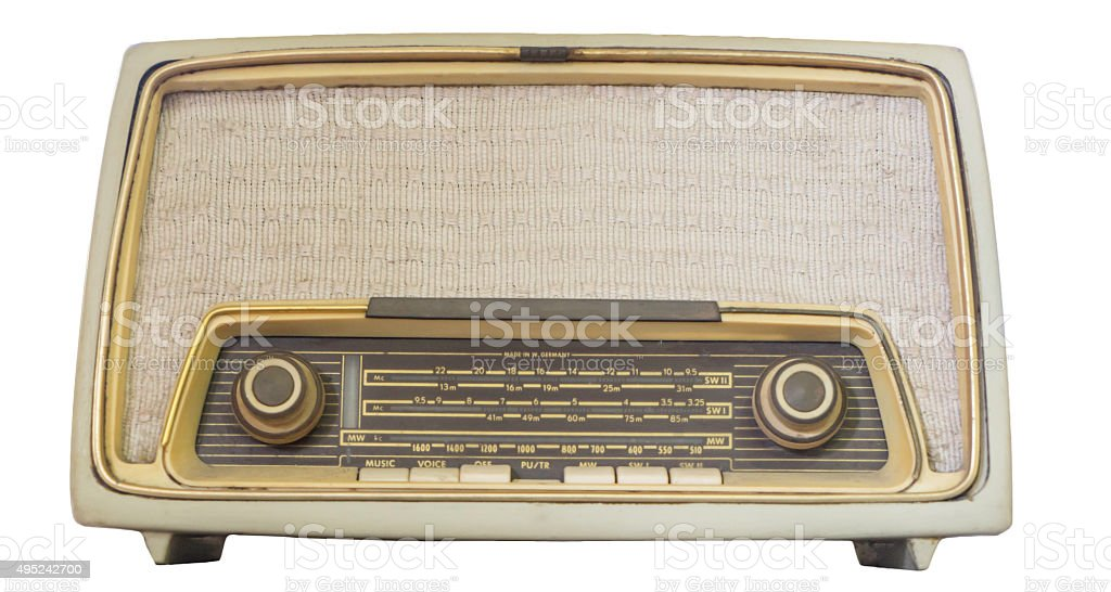 Vintage Radio Receiver isolated stock photo