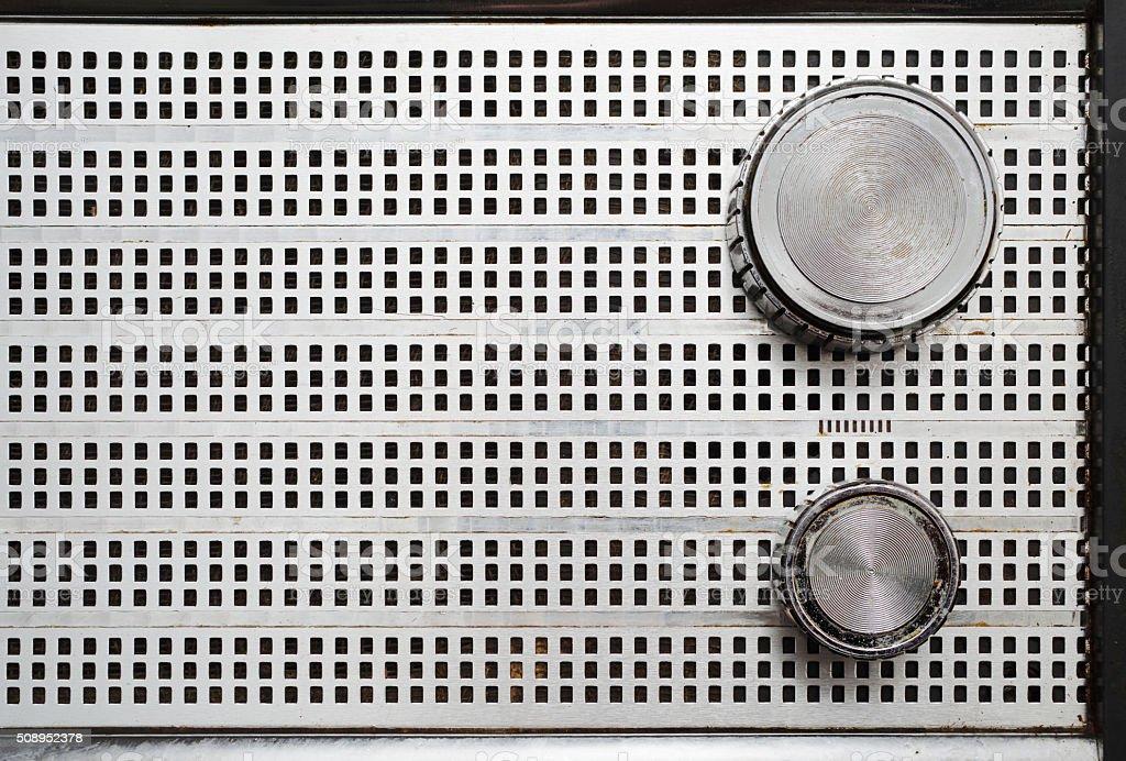 Vintage Radio Speaker Grille stock photo