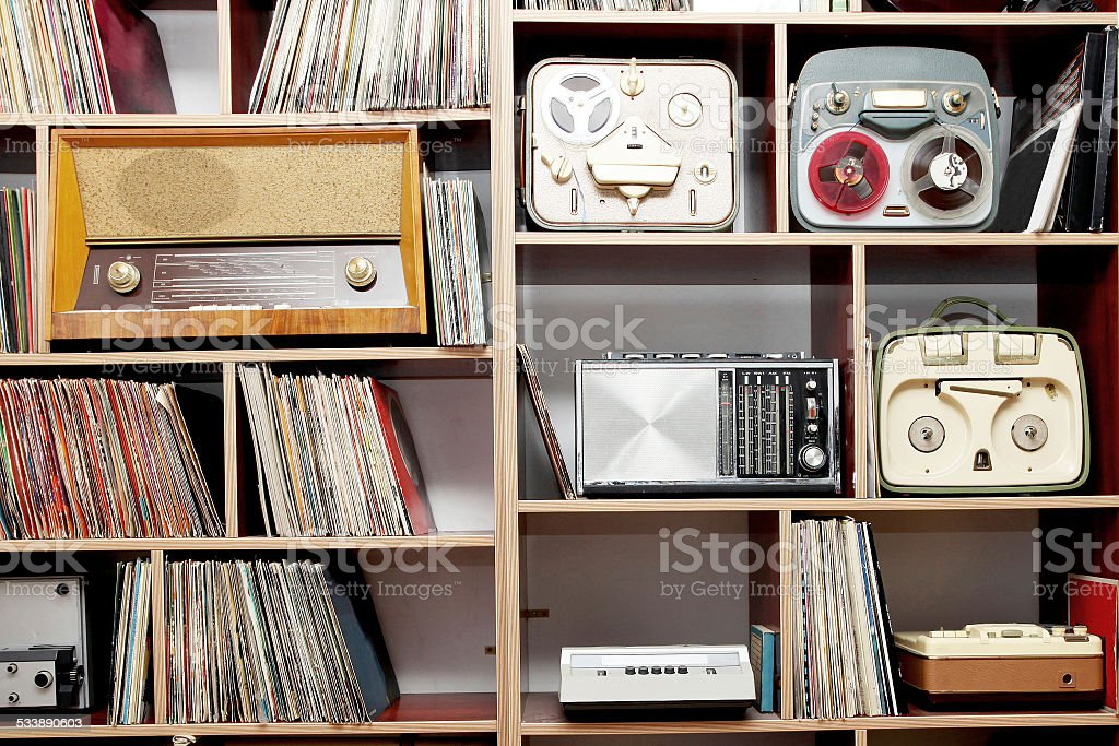 vintage radios stock photo