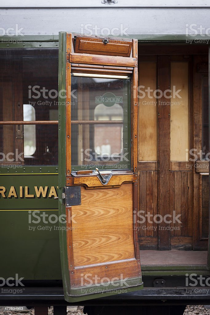 Vintage Rail Compartment royalty-free stock photo