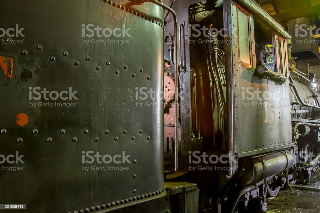 Vintage railroad cars stock photo