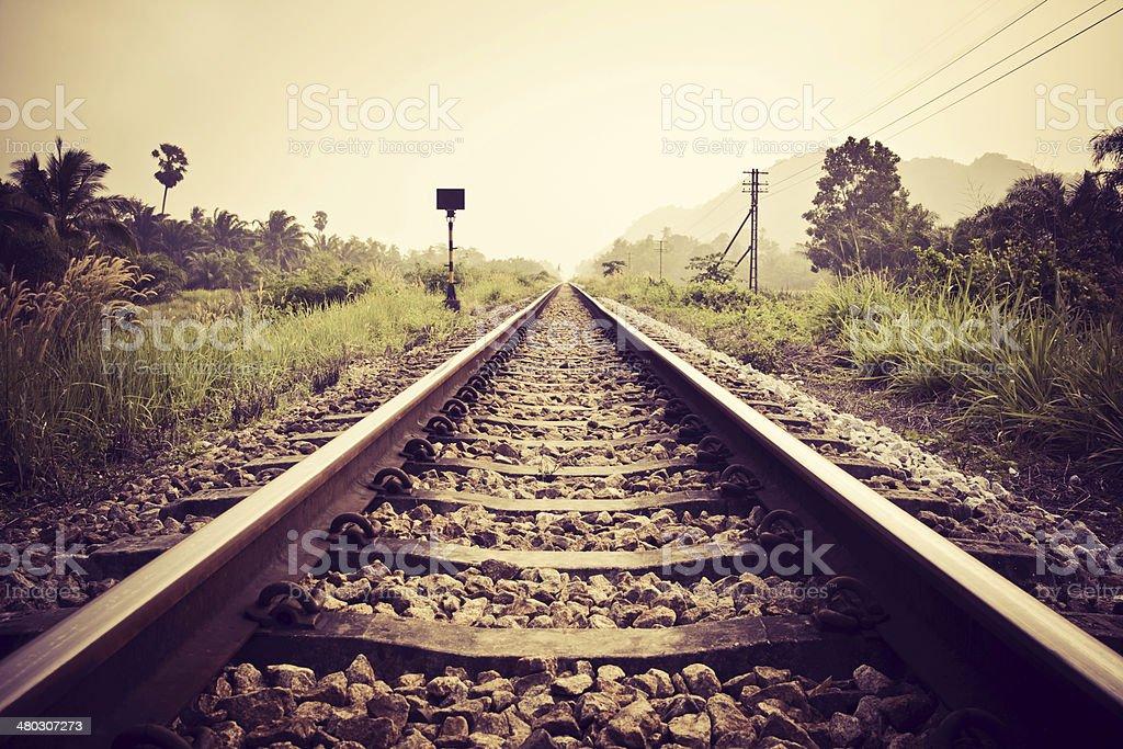 vintage railroad stock photo