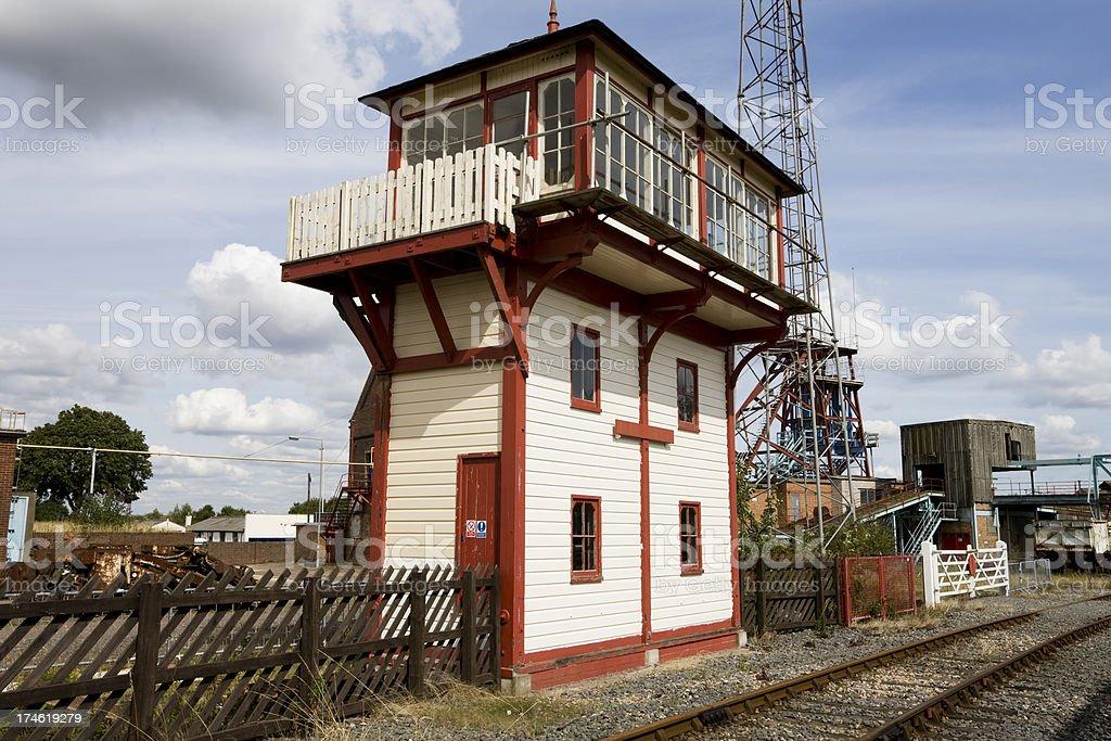 Vintage Railway Signal Box royalty-free stock photo