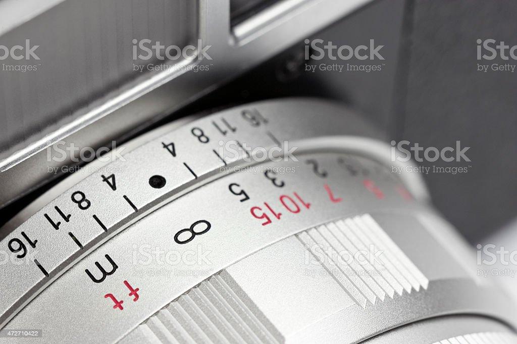 Vintage Rangefinder Camera - Infinity stock photo