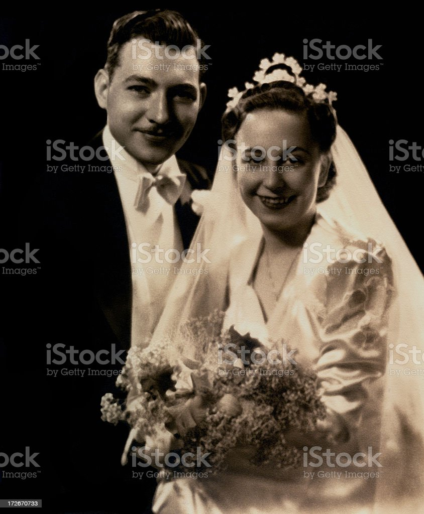 Vintage. Real wedding stock photo