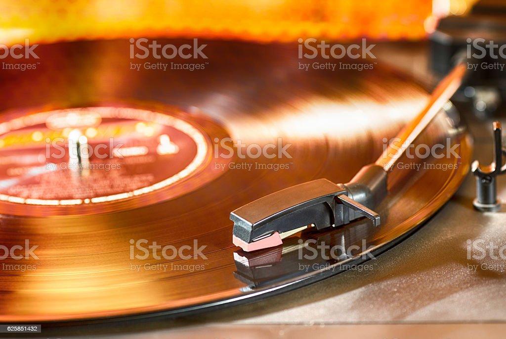 Vintage record player stock photo