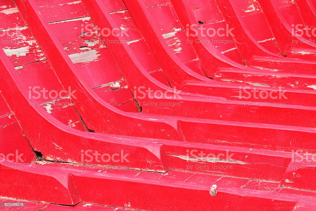Vintage Red Boat Hull Nautical Frame stock photo