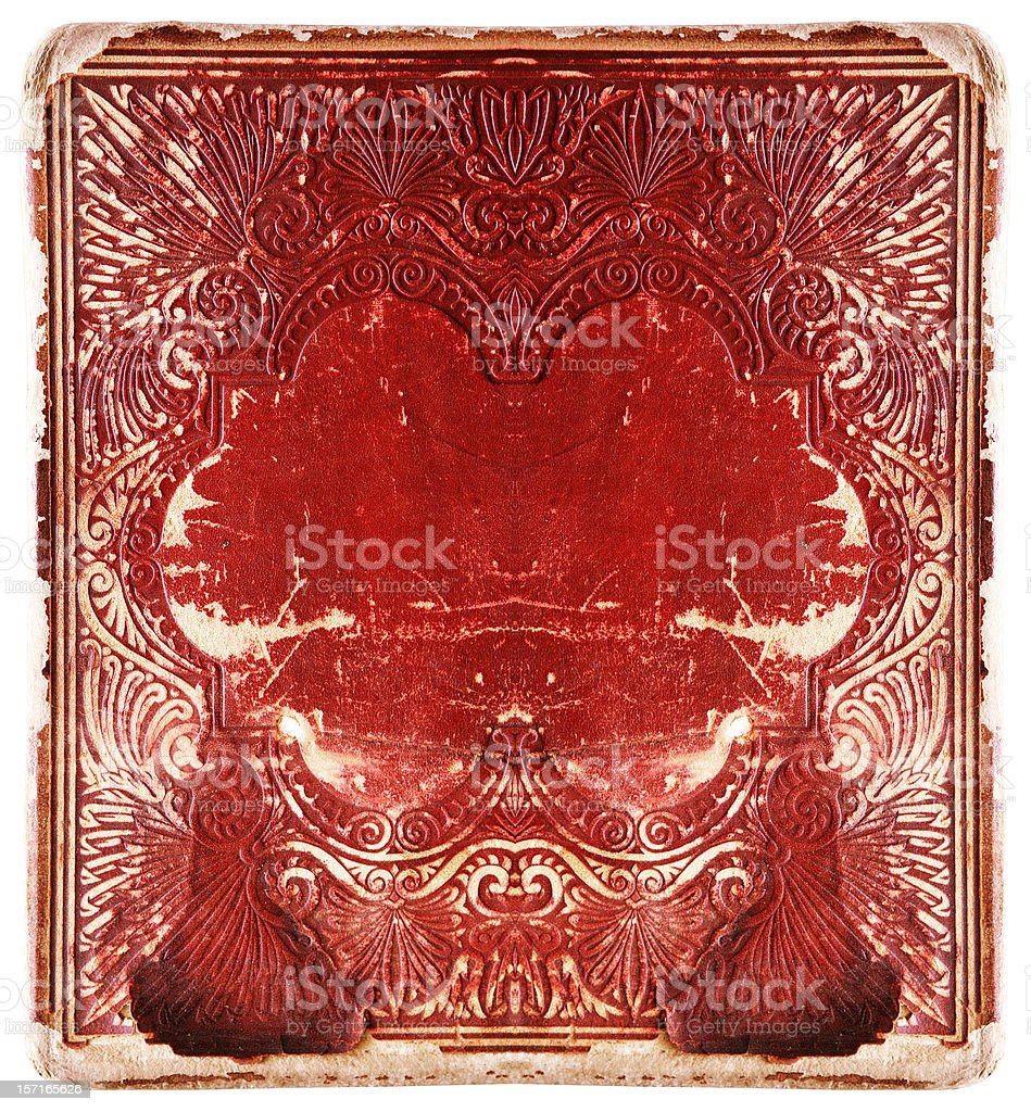 Vintage Red Book Cover royalty-free stock photo