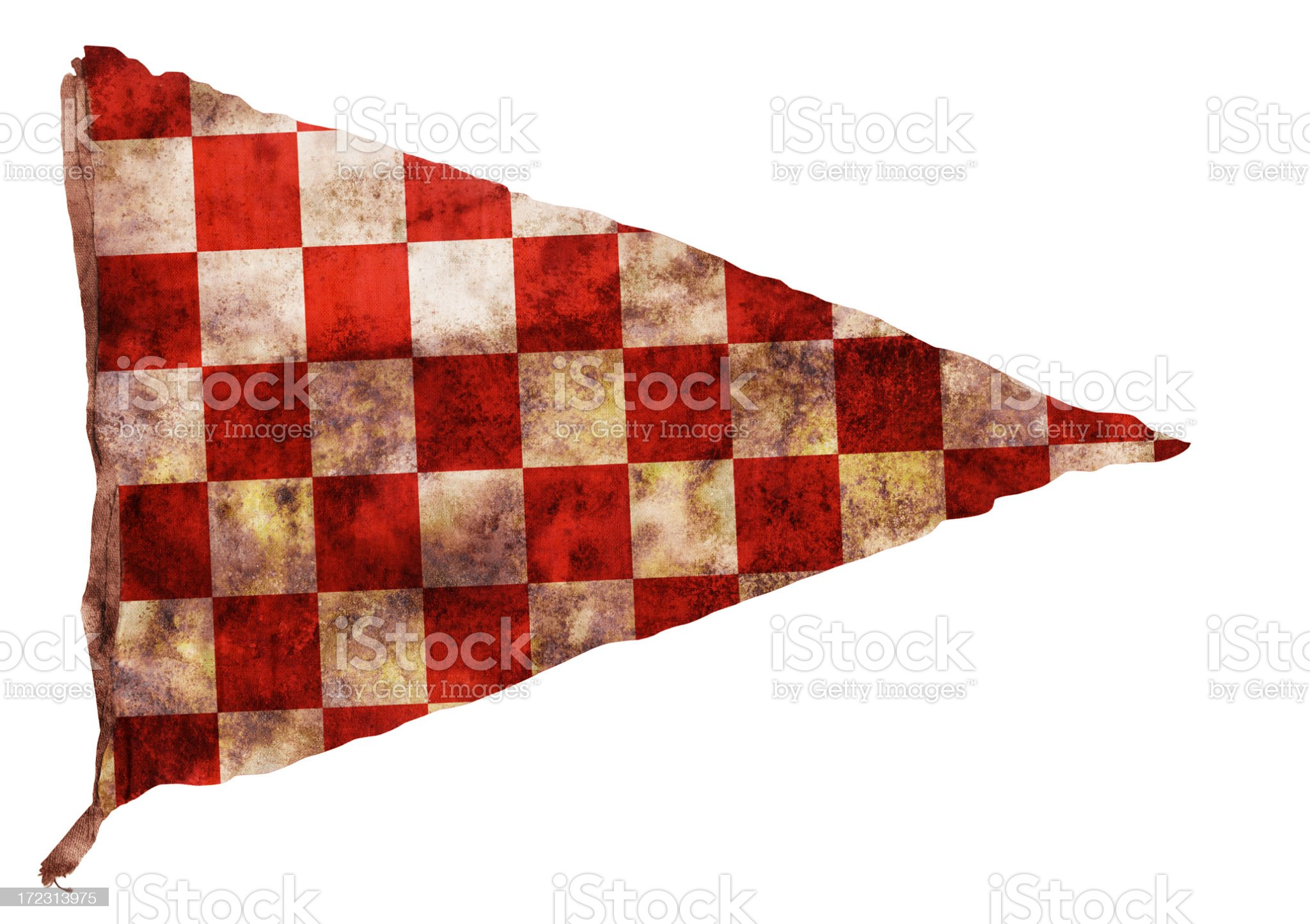 Vintage red Checkered Pennant (XXL) royalty-free stock photo