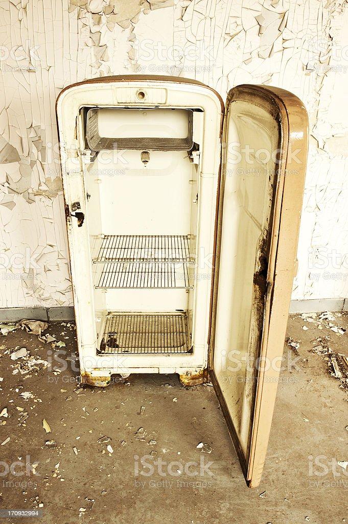 Vintage Refridgerator stock photo