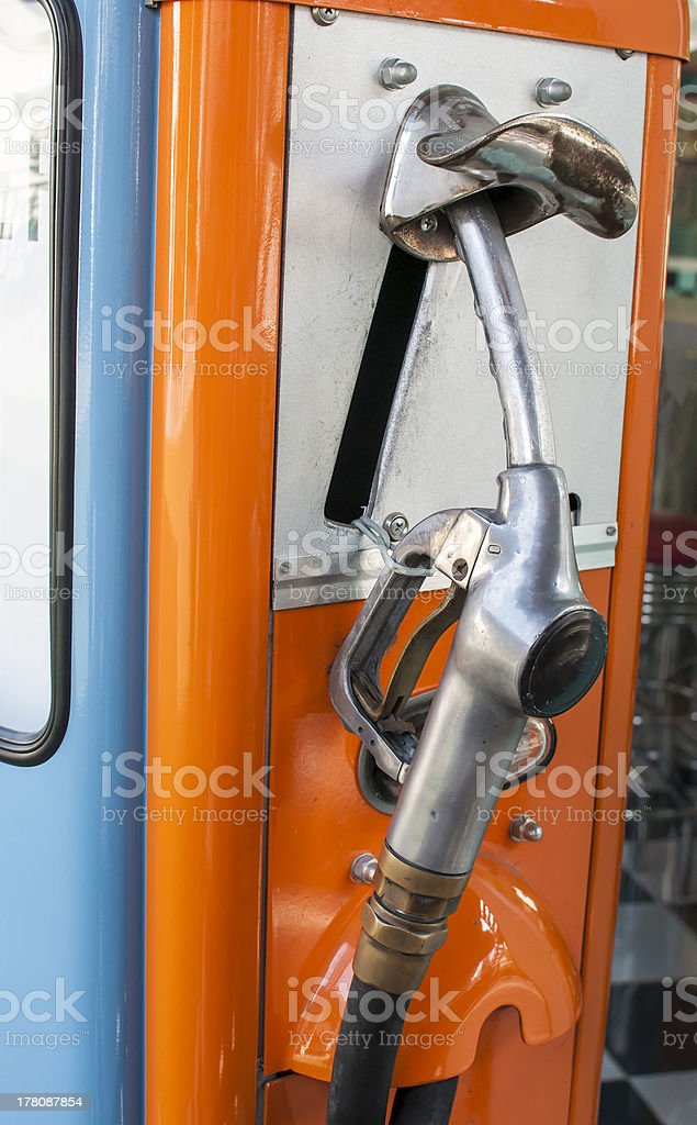 Vintage refuel hose royalty-free stock photo