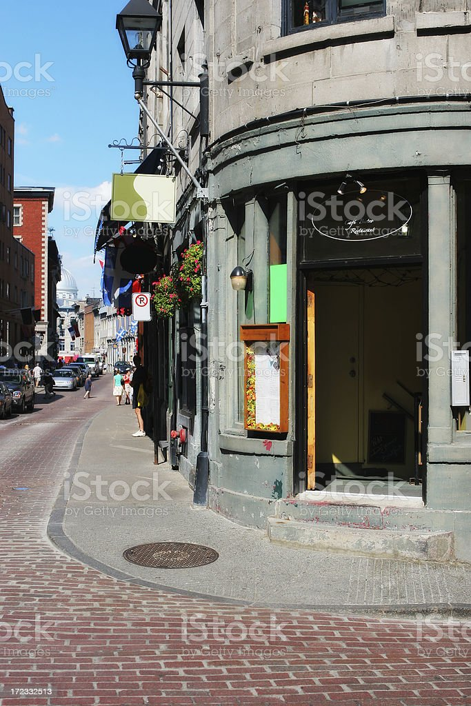 Vintage restaurant in old Montreal royalty-free stock photo