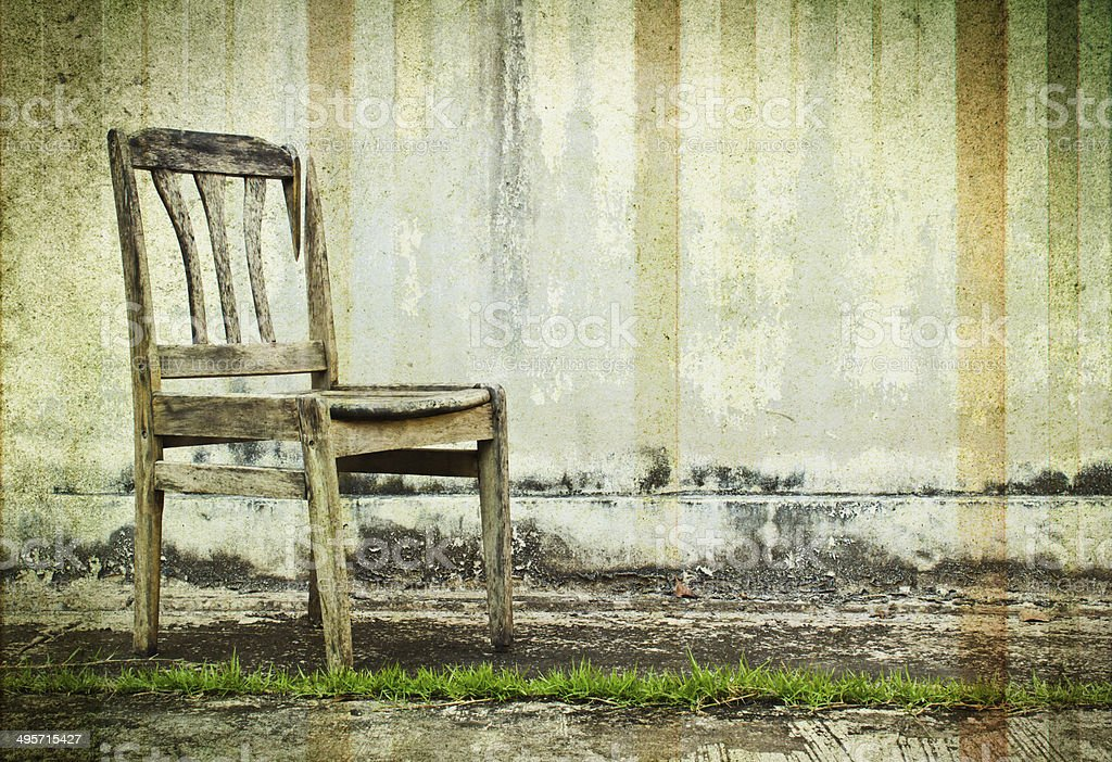 vintage retro chair royalty-free stock photo