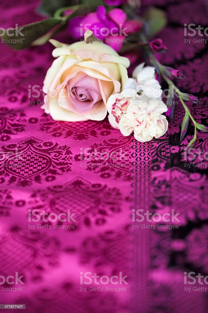 Vintage retro flowers stock photo