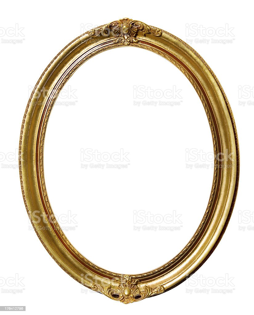 Vintage Retro Old Picture Frame royalty-free stock photo