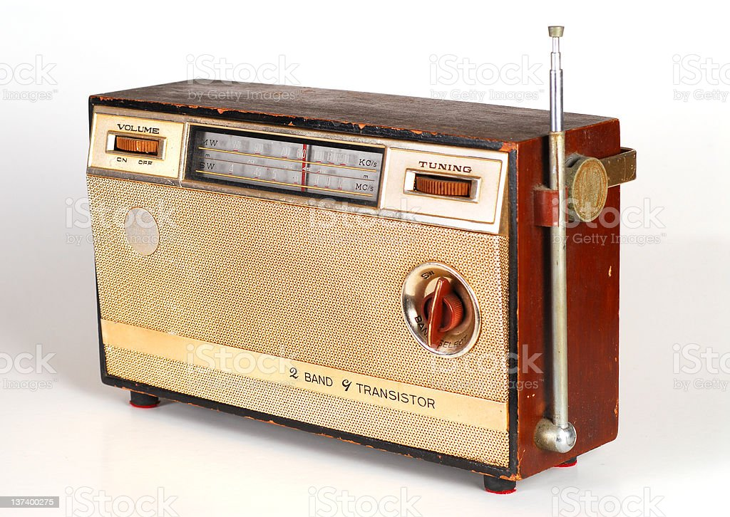 Vintage Retro Radio stock photo