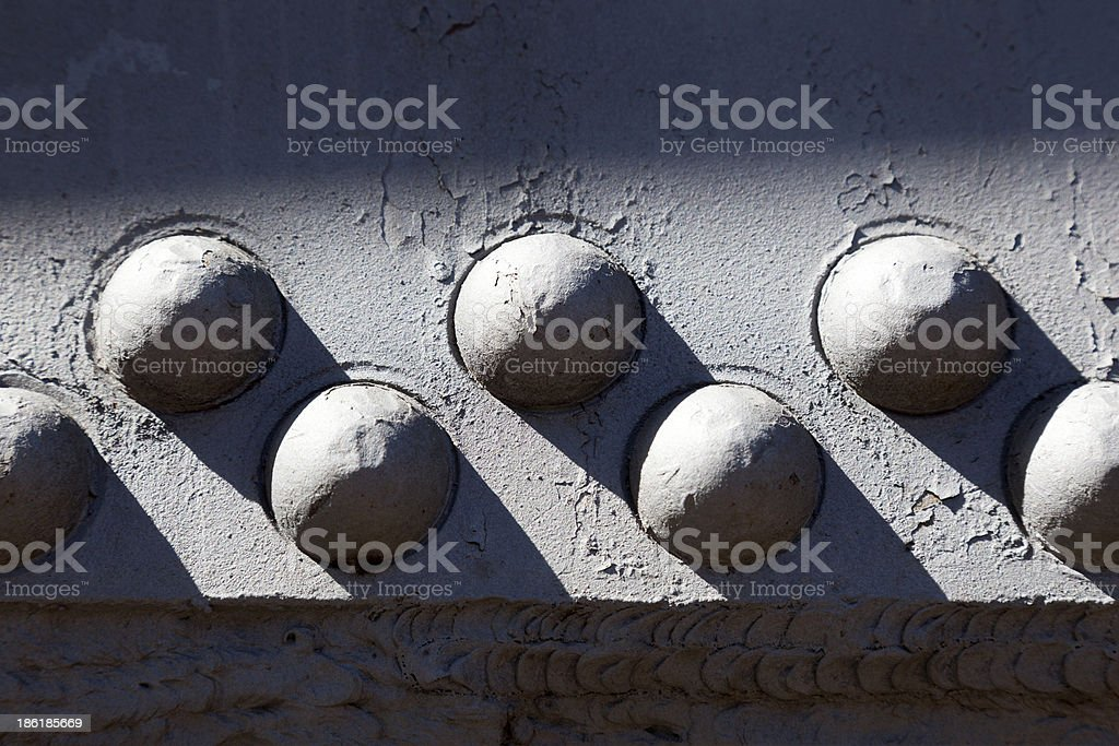 Vintage Rivets royalty-free stock photo