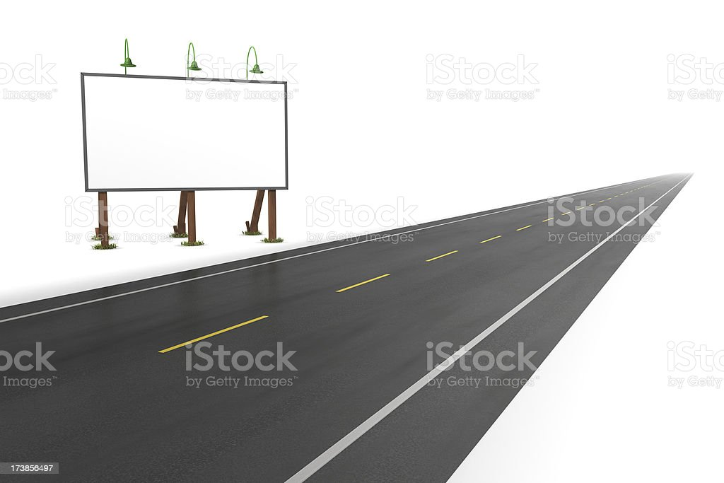 Vintage Road Side Billboard royalty-free stock photo