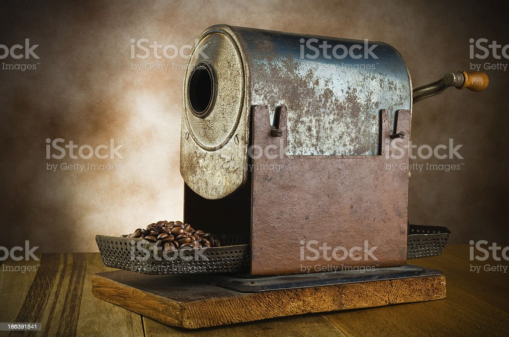 vintage roaster stock photo